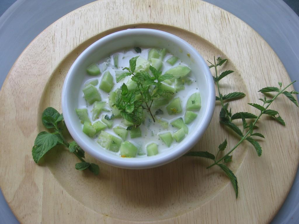 recette soupe concombre creme coco