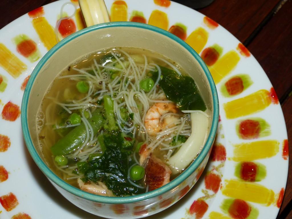 recette fondue japonaise crevettes calamars