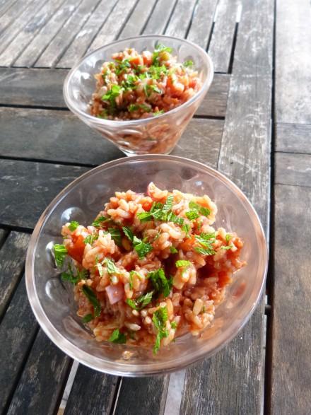 recette salade riz tomate