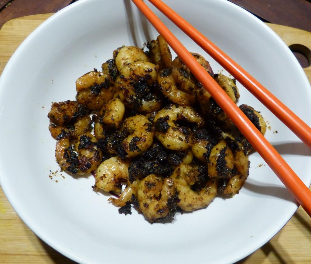 recette crevettes ail noir