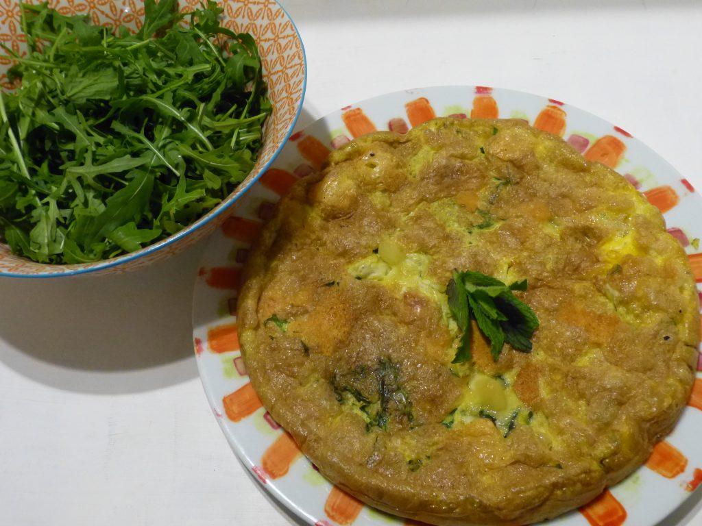 recette omelette chevre menthe