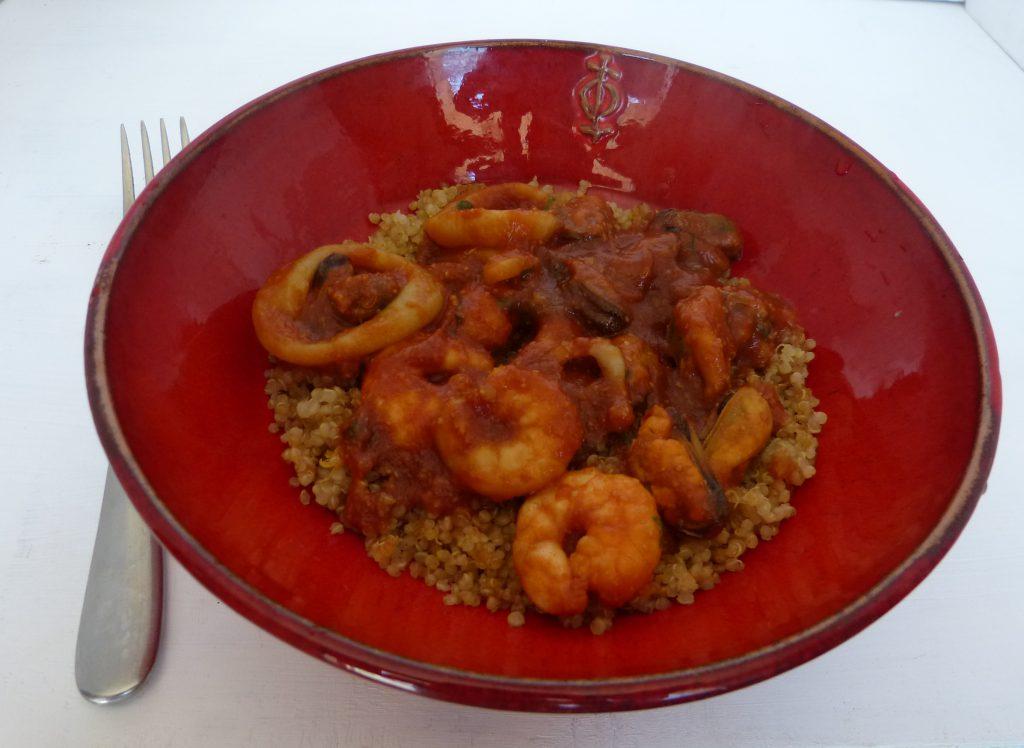recette quinoa fruits de mer
