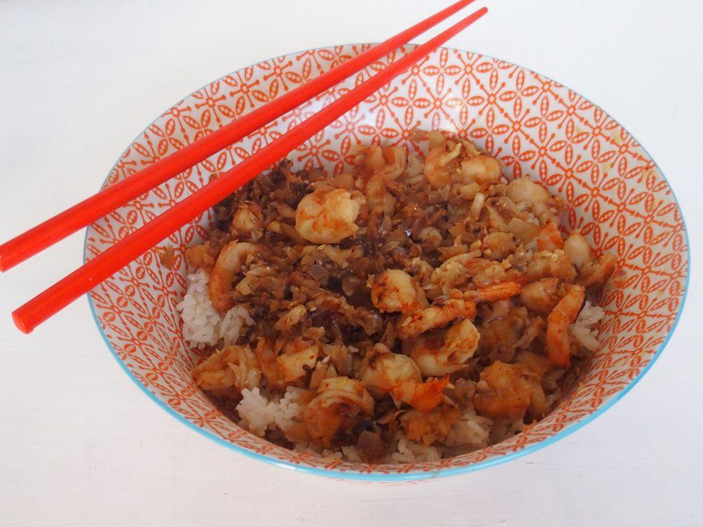 recette crevettes wok