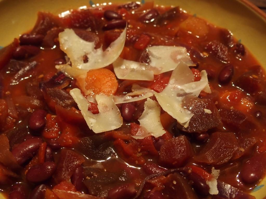 recette soupe minestrone haricots rouges