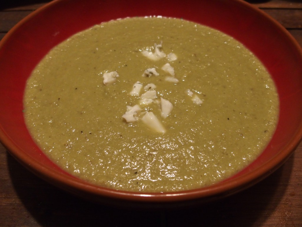 soupe recette chou petits pois roquefort