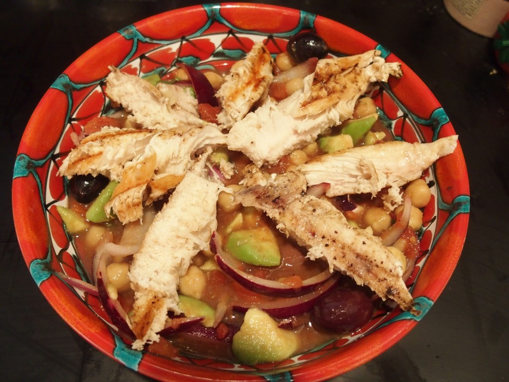 recette salade poulet pois chiches