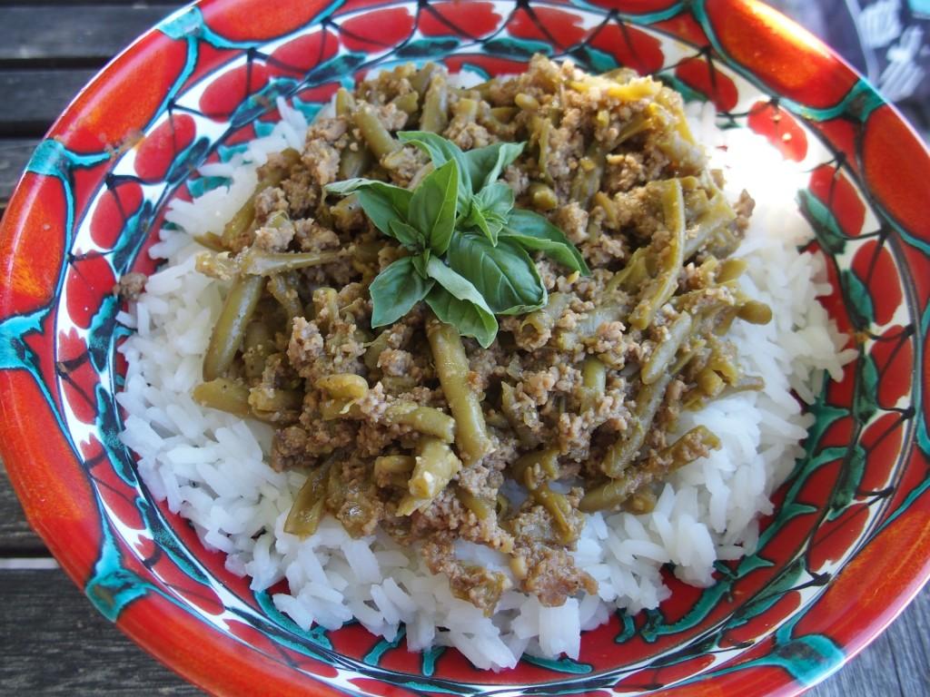 recette agneau haricots verts