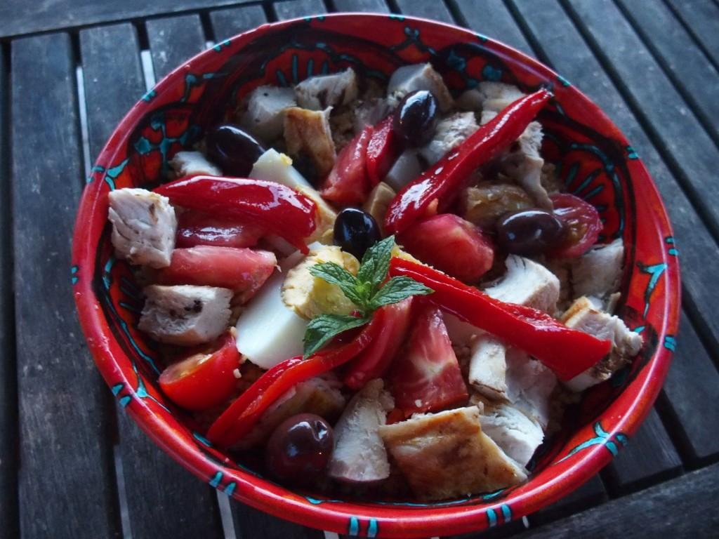 recette semoule legumes poulet salade
