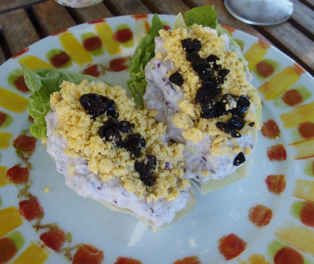 recette apéritif salade sucrine mimosa