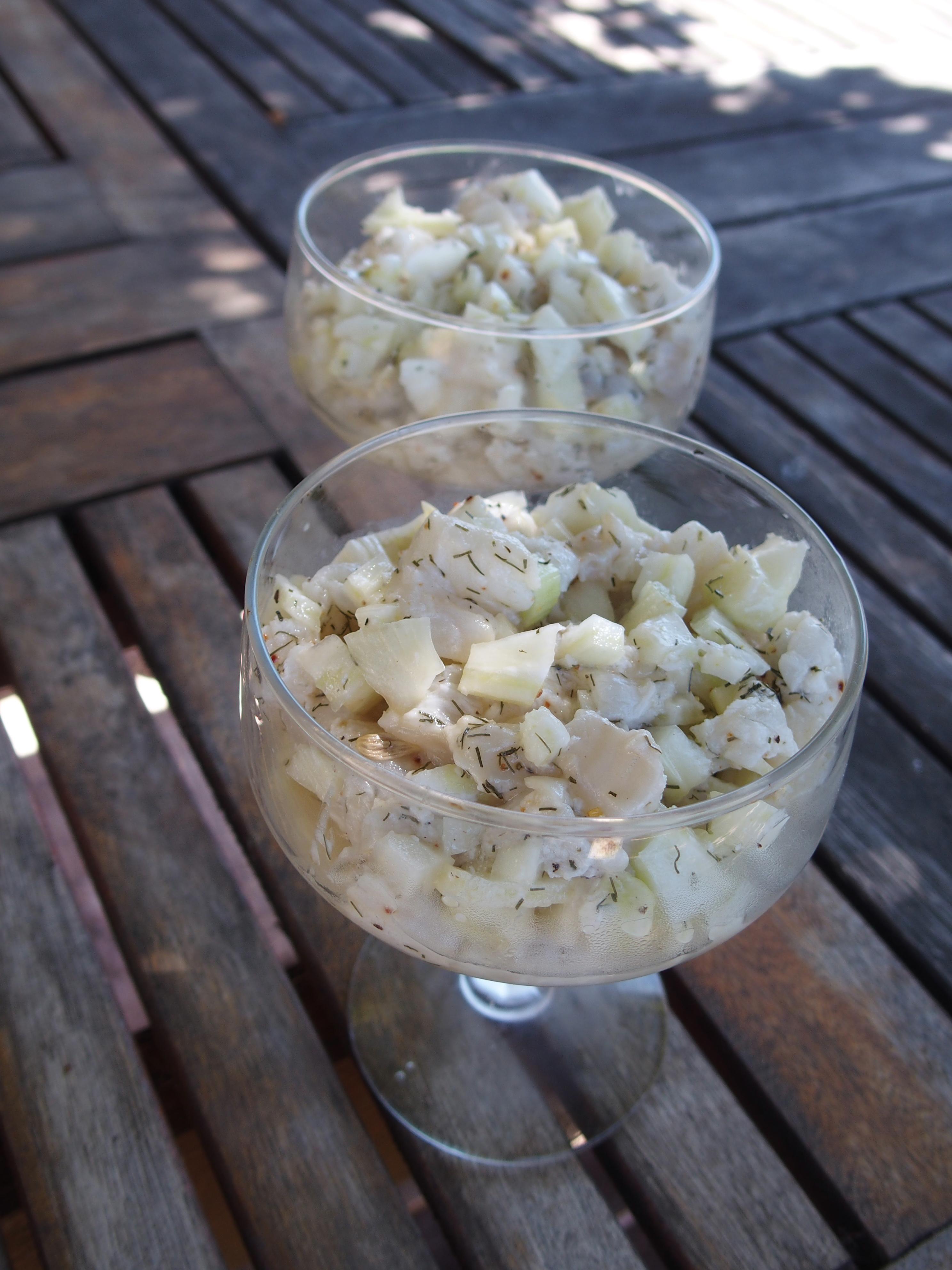 Tartare de cabillaud au fenouil et au citron vert gourmicom for Cabillaud fenouil