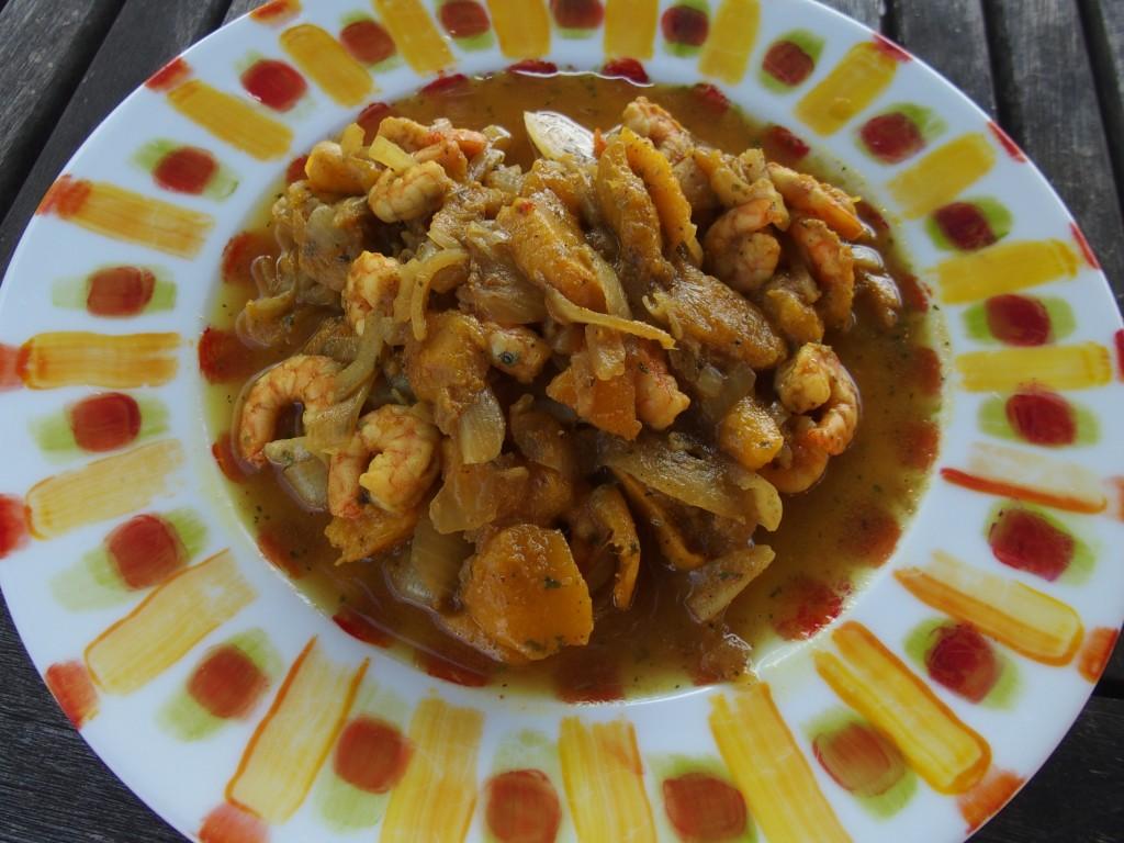 recette curry crevettes mangue