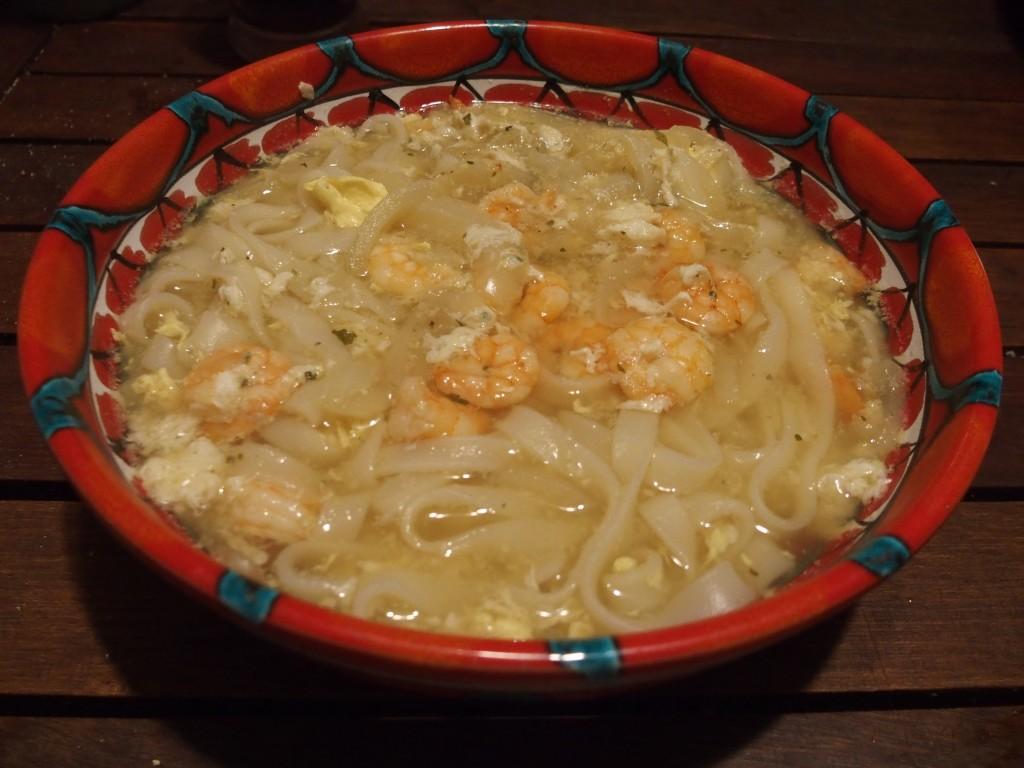recette ramen crevettes soupe