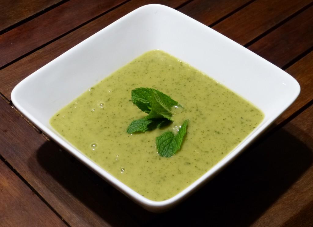 Recette soupe courgette menthe