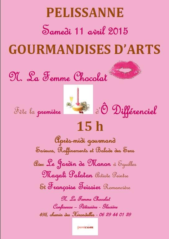 affiche gourmandises arts