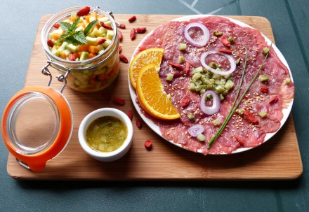carpaccio orange boeuf