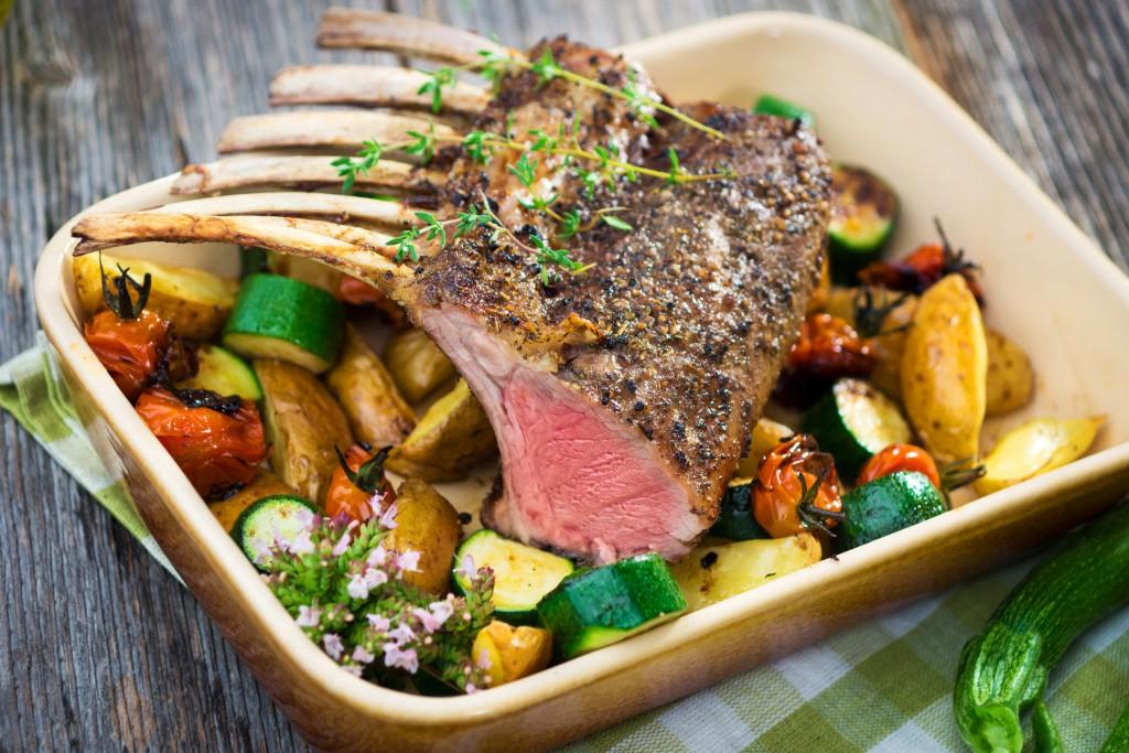 recette agneau tapenade legumes rotis