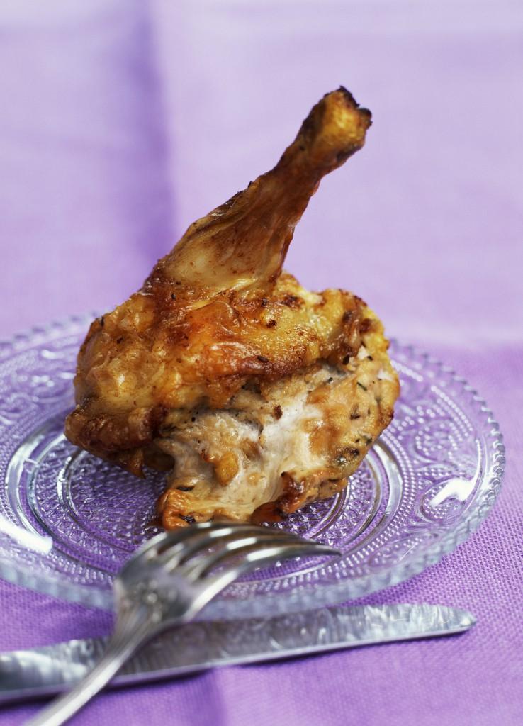 Cuisse de poulet farcie au fromage
