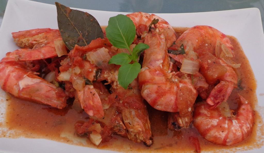 Partez au soleil avec les gambas mistral blogs de cuisine for Academie nationale de cuisine
