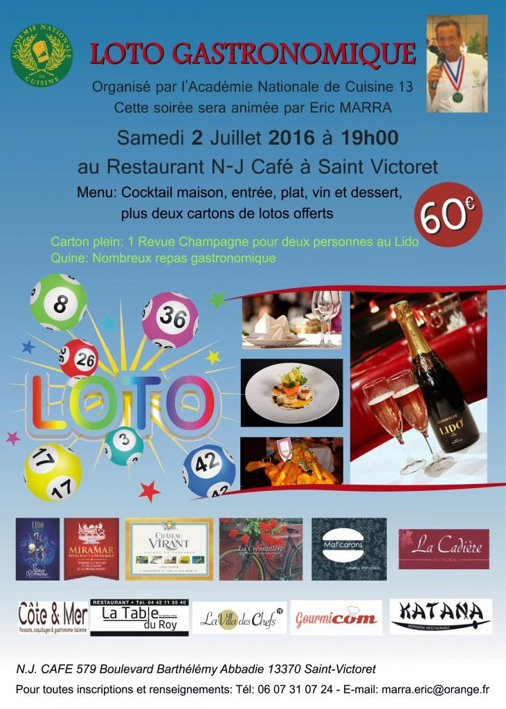 Saint victoret loto gastronomique de l 39 acad mie for Academie cuisine