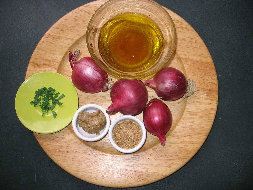 oignons rouges gomasio recette