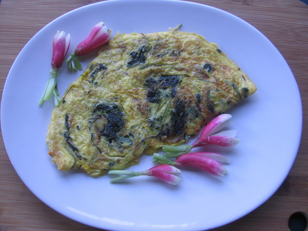 omelette radis