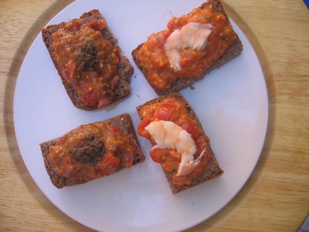 pate tartiner tomates