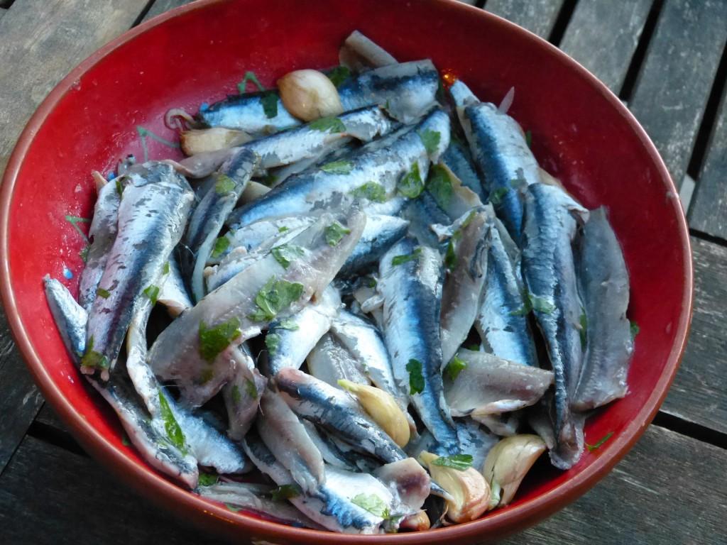 recette anchois ail