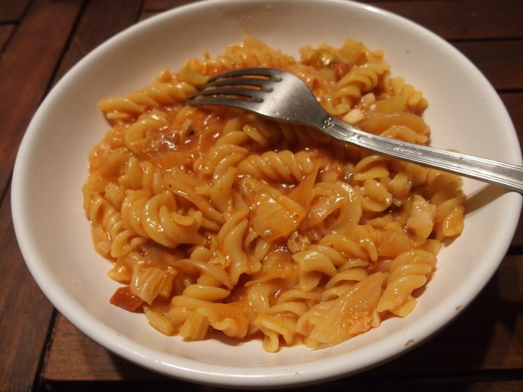 recette one pot pasta chorizo cabillaud