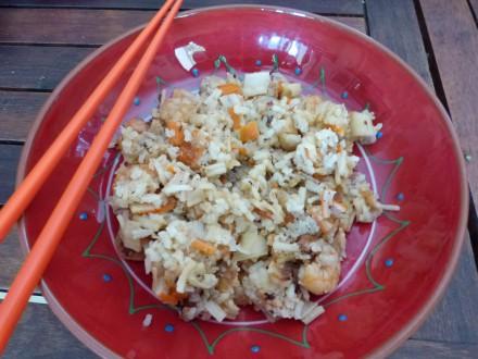 recette crevettes gingembre riz