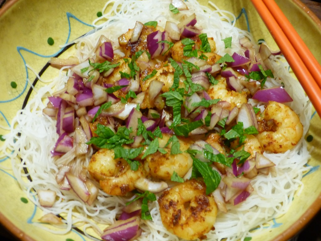 recette-crevettes-salade-thai
