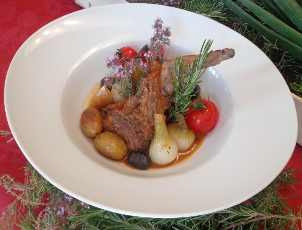 Lapin aux oignons nouveaux et au romarin blogs de cuisine for Academie nationale de cuisine