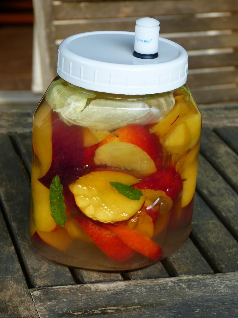 recette nectarines lactofermentation