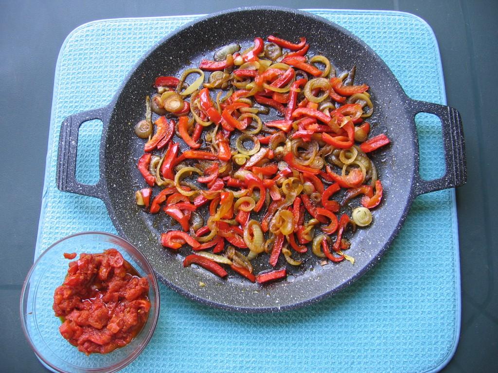 recette poivrons tomate oignon