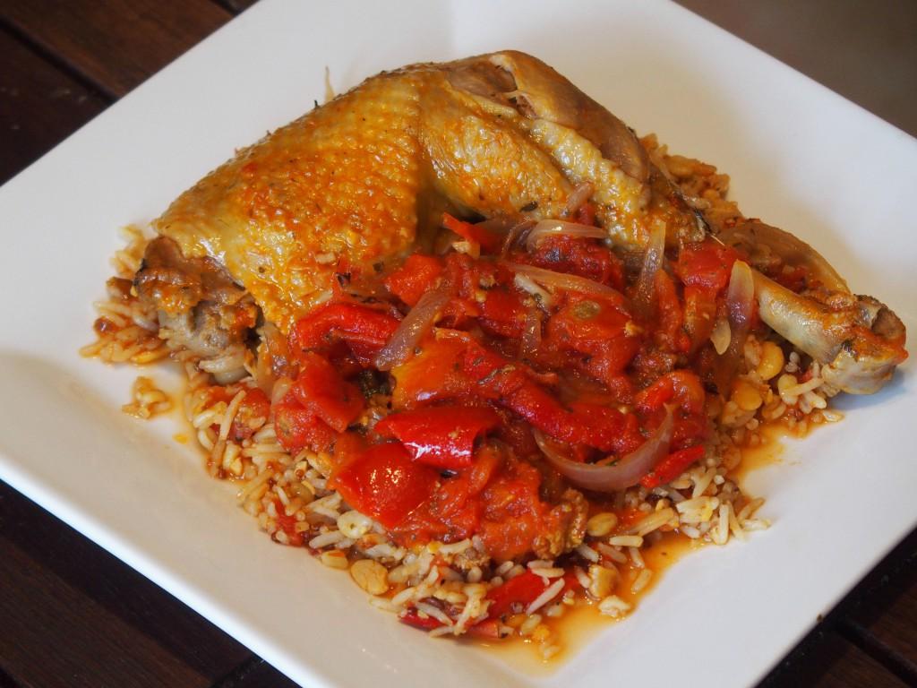 recette poulet basquaise poivron