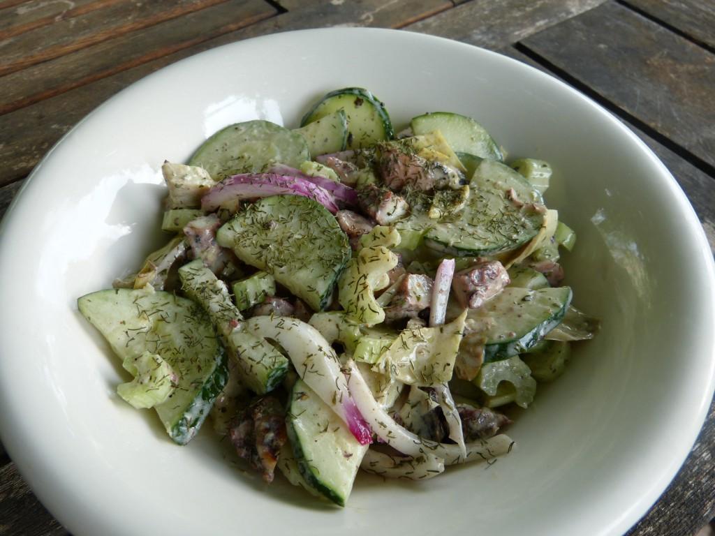 recette poulpe salade artichaut