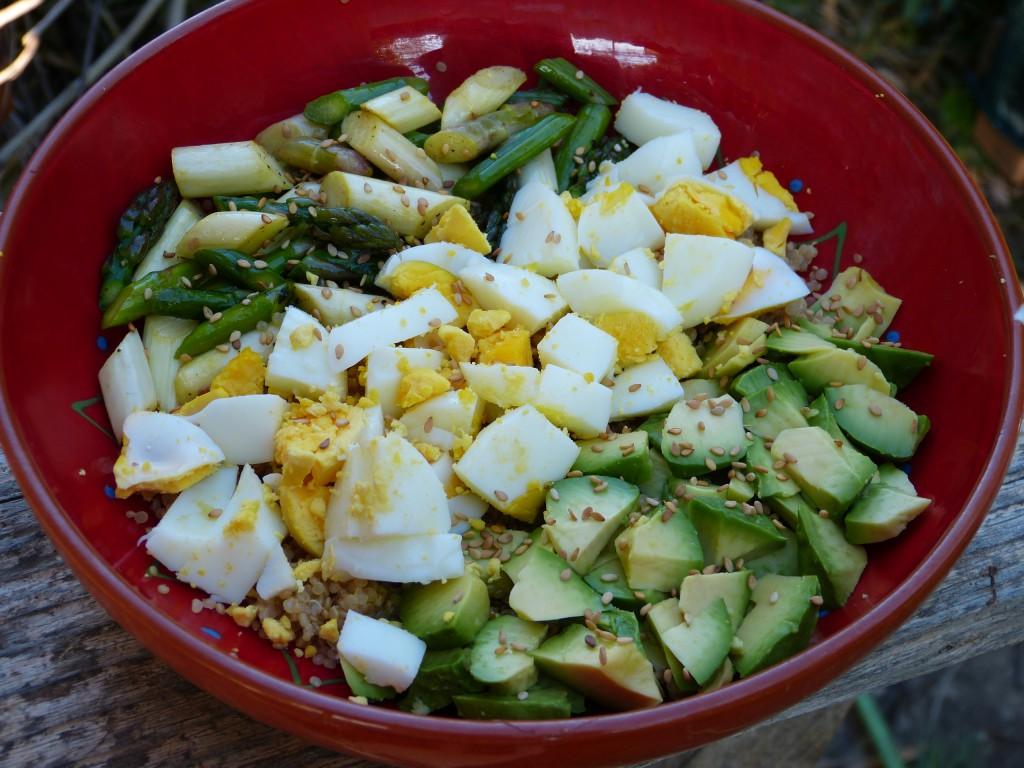 recette power bowl asperges avocat oeuf