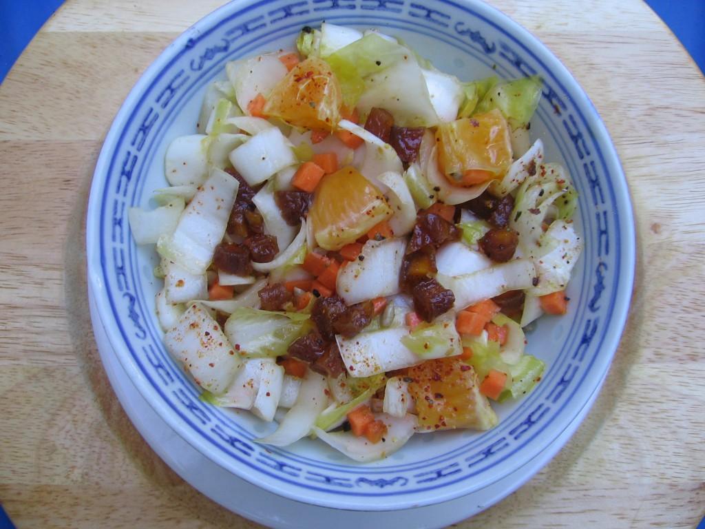 recette salade endives abricots secs