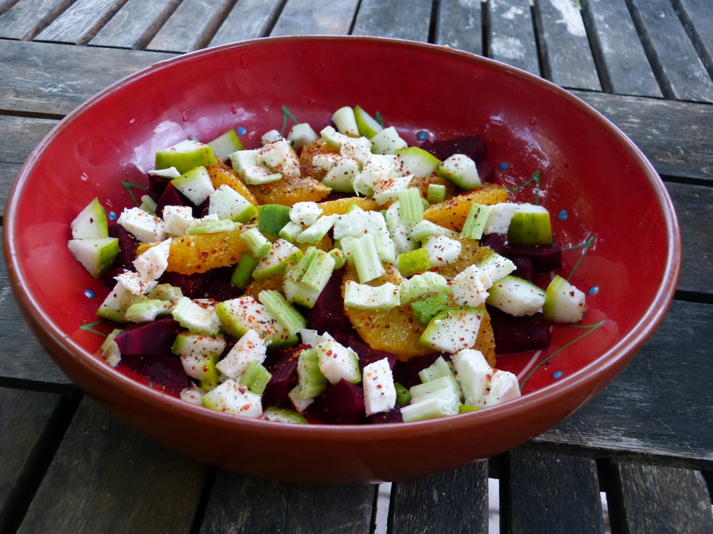 recette salade orange betterave