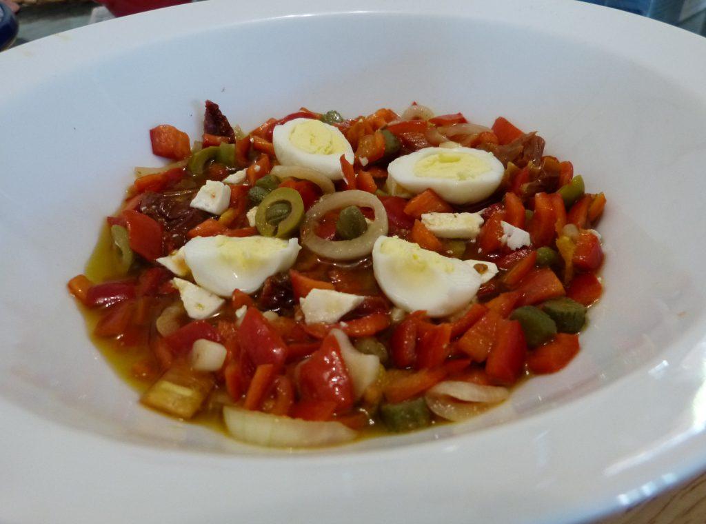 recette salade poivrons tomates