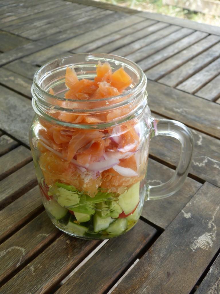 recette salade saumon bocal