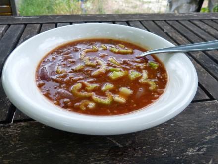 recette soupe lentilles tomate