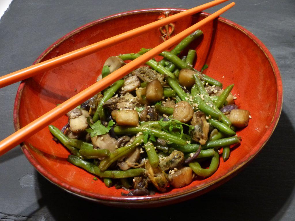 recette wok fruits de mer