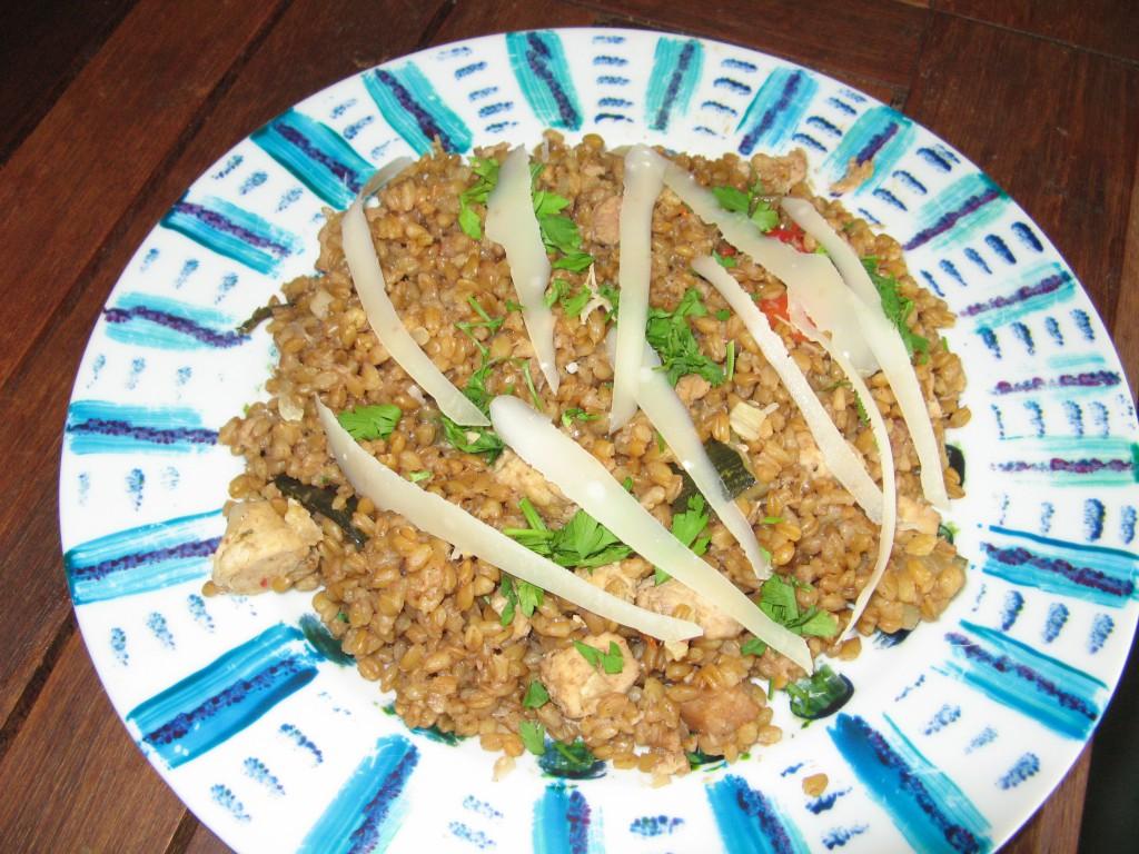 risotto recette poulet petit epeautre