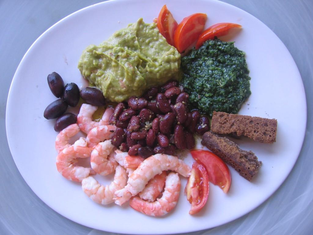 recette salade crevettes guacamole