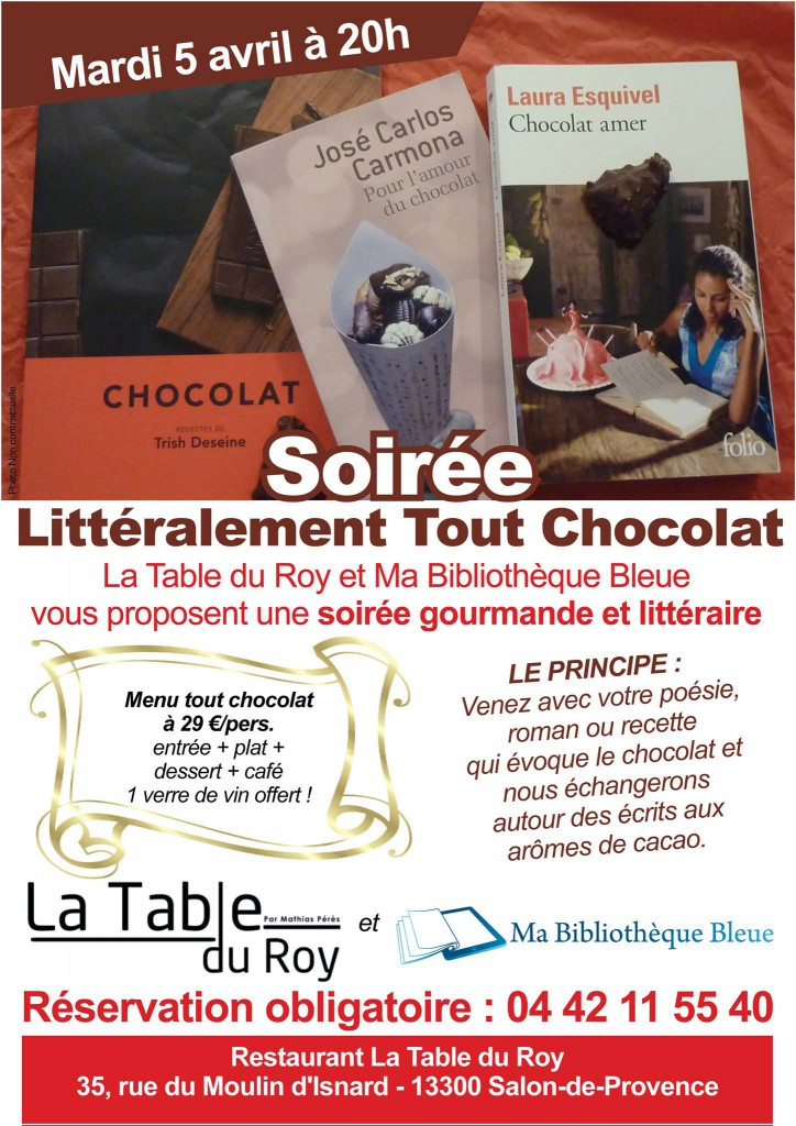 soiree tout chocolat salon provence