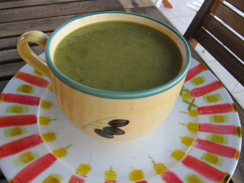 soupe courgettes recette menthe
