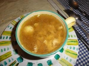 soupe poulet recette citron oeuf