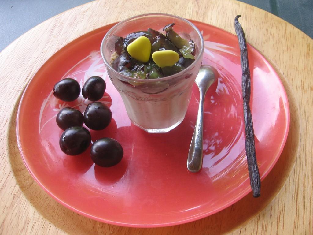 verrine raisins recette miel brousse