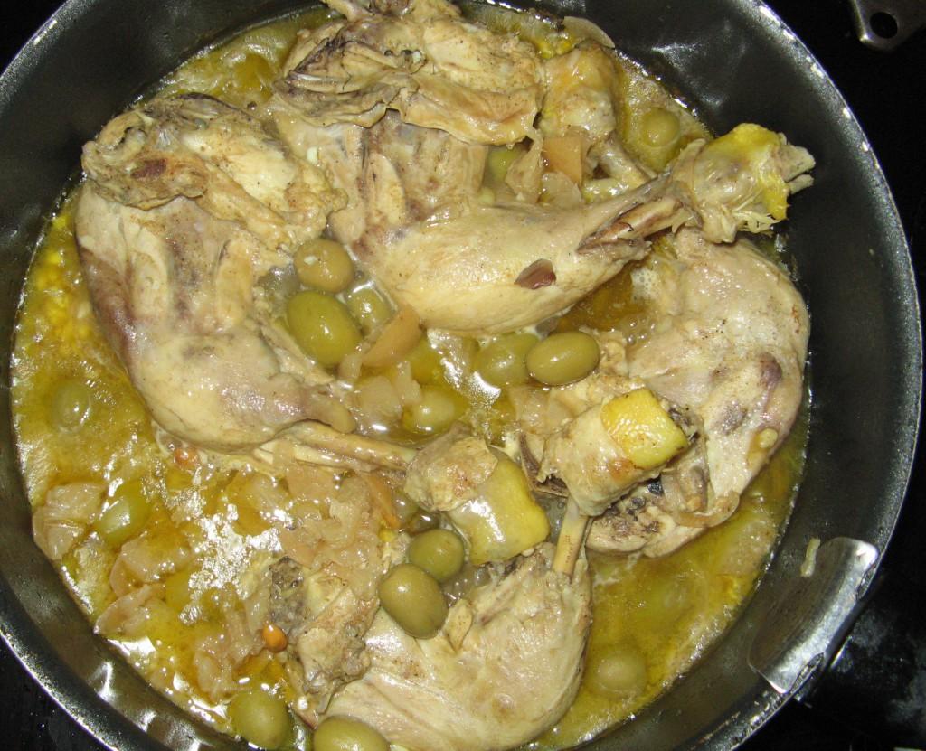 tajine poulet olives recette