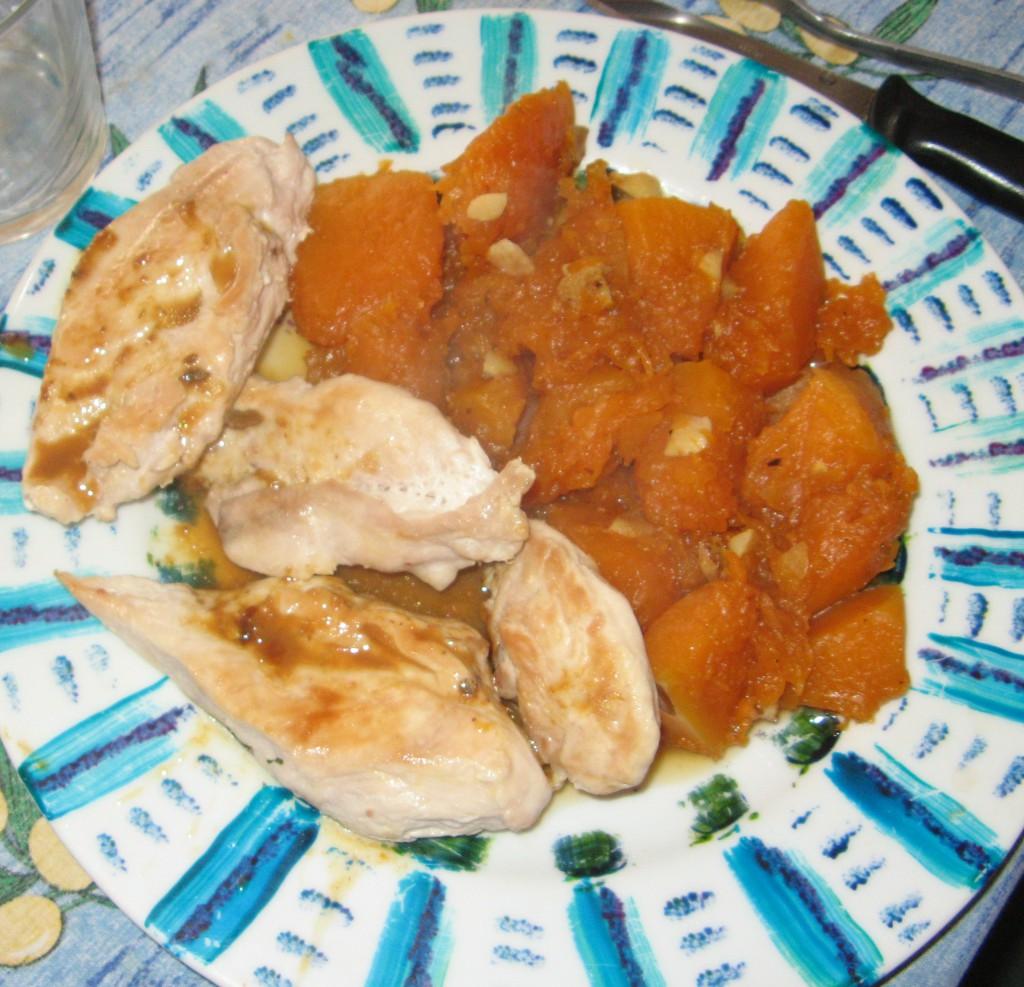 poulet recette courge